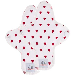 EH Moon Pads Midi Slipeinlage white hearts 2er-Set