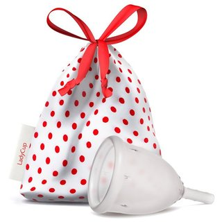 LadyCup Menstruationstasse transparent