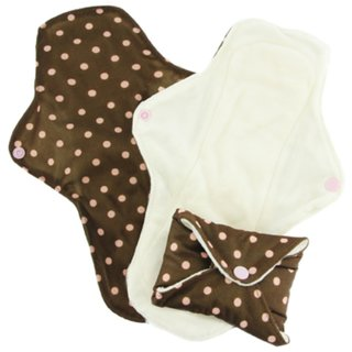 PinkDaisy Menstruations-Pad Organic Cotton Gr. M Pink on Choc 3er-Set