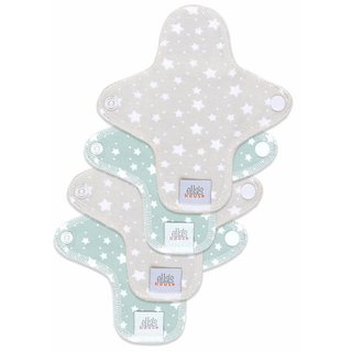 EH Moon Pads Mini Slipeinlage stars cloud + beige 4er-Set